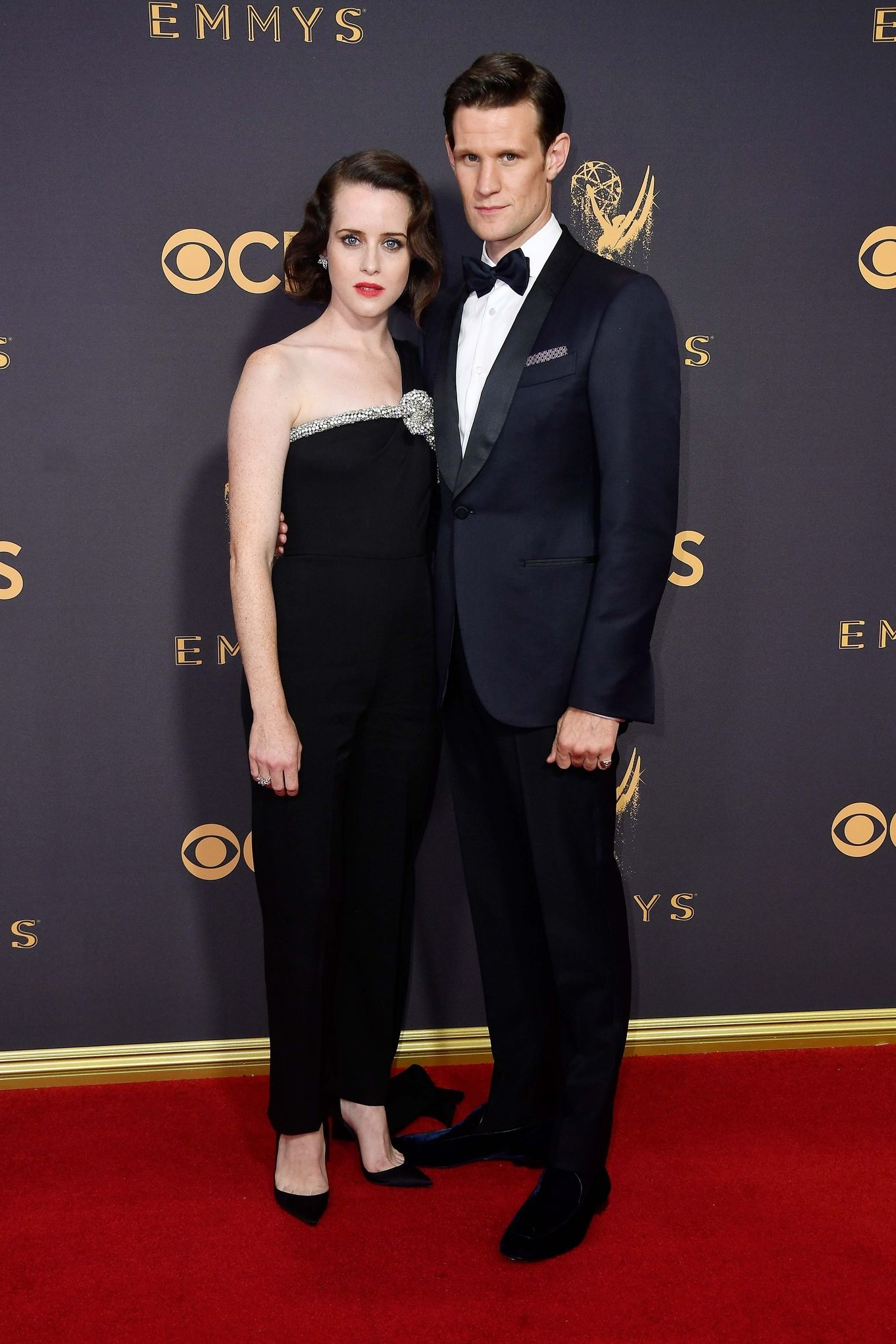 CLAIRE FOY AND MATT SMITH Getty In Ermenegildo Zegna Couture at Emmys