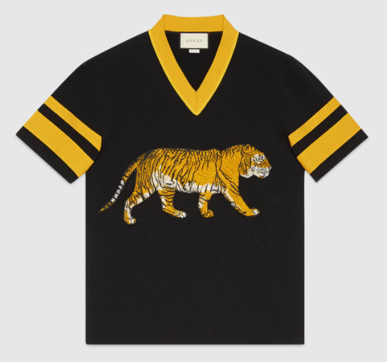Gucci cotton t-shirt with tiger