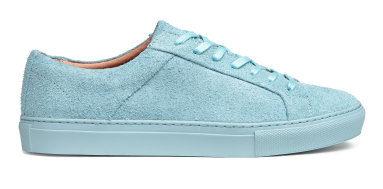H&M ljusblå sko i läder
