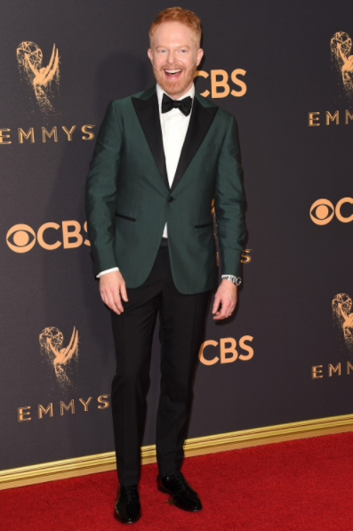 Jesse Tyler Ferguson wearin Mont Blanc Cufflinks at the Emmys 2017