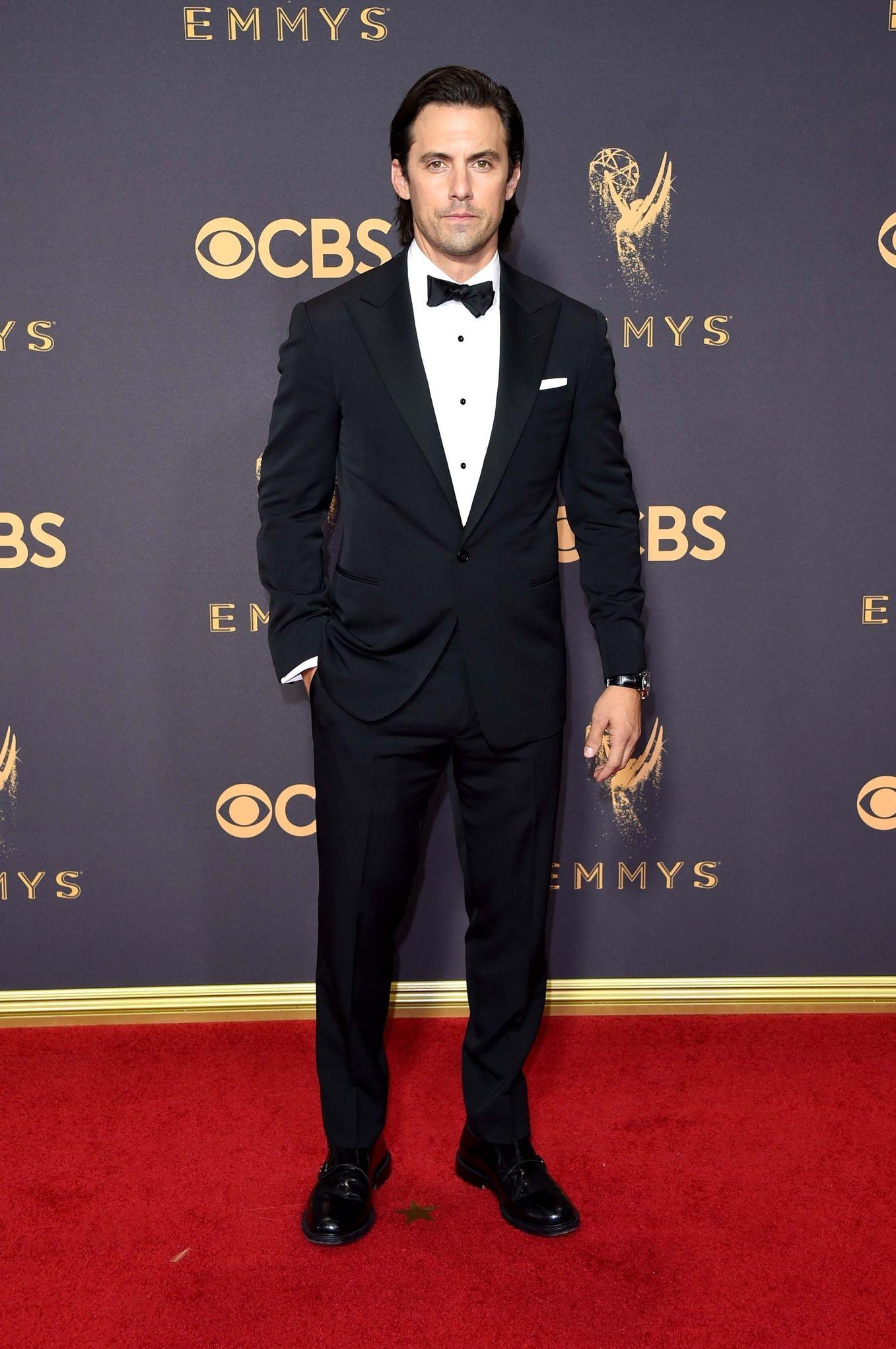 MILO VENTIMIGLIA In Ralph Lauren Purple Label at Emmys 2017