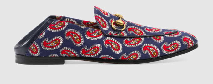 Men's Gucci paisley loafer FW17