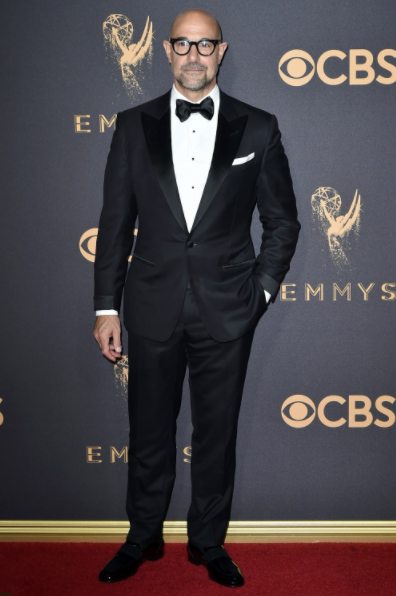 Stanley Tucci in Tom Ford at the Emmys 2017