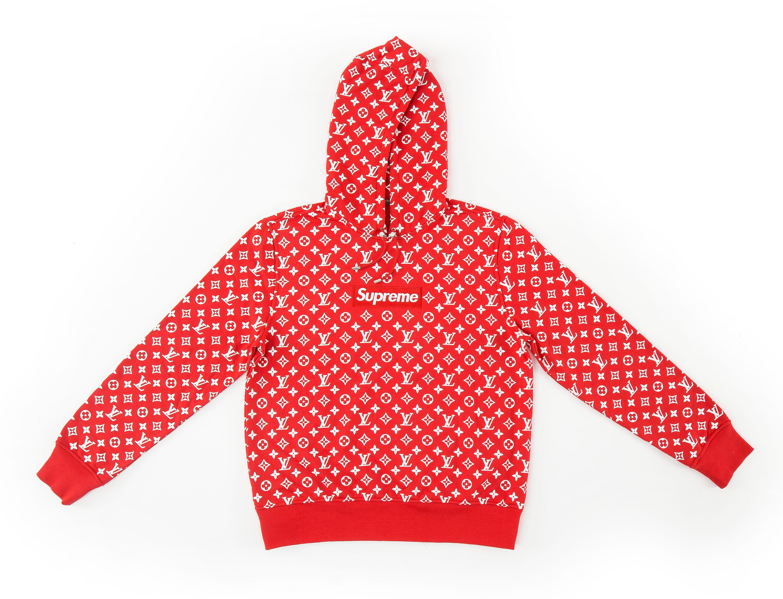Supreme x Louis Vuitton hoodie på Bukowskis