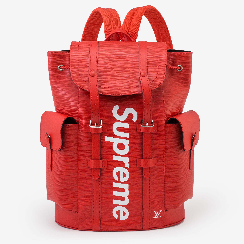 Supreme x Louis Vuitton ryggsäck på Bukowskis