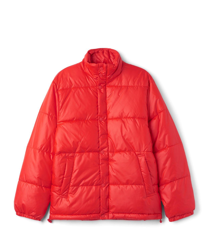 Weekday Ply Jacket röd dunjacka