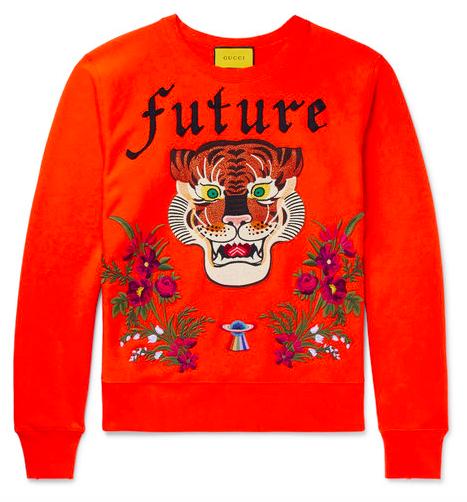 Gucci sweatshirt embroidery