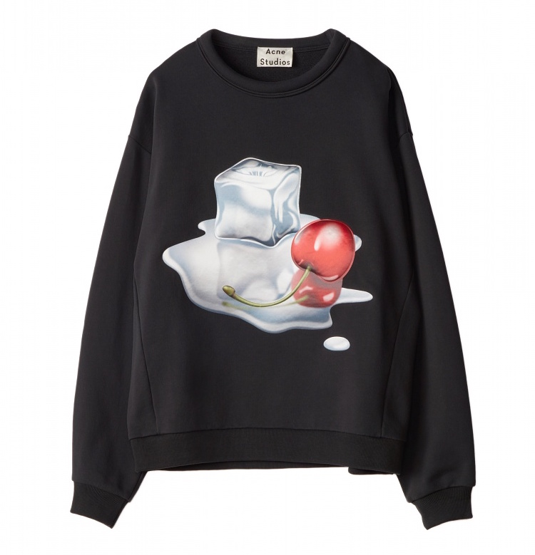 Acne Studios Diner Collection flames-black-ice-print