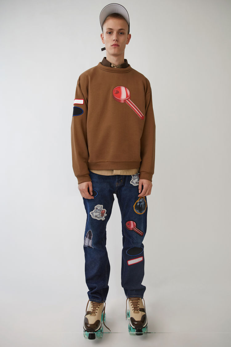 Acne Studios Diner Collection printed sweatshirt with patches