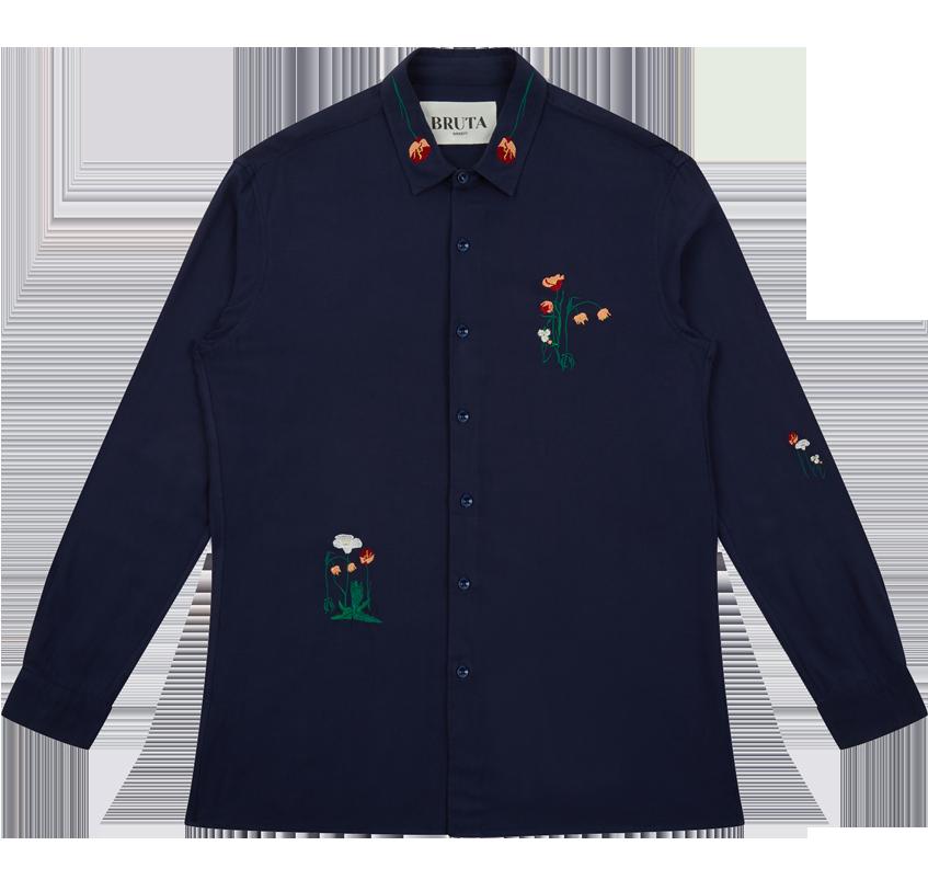 Bruta Sissinghurst shirt blue