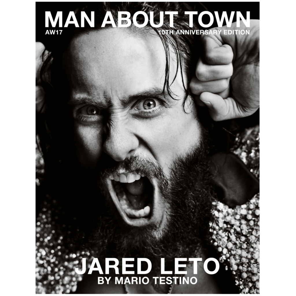 MAN ABOUT TOWN MAGAZINE AW17 JARED LETO PHOTOGRAPHED BY MARIO TESTINO COVER