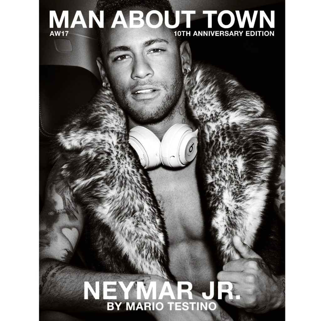 MAN ABOUT TOWN MAGAZINE AW17 NEYMAR PHOTOGRAPHED BY MARIO TESTINO COVER