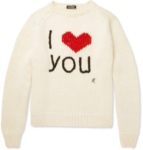 Raf Simons I Love You Sweater
