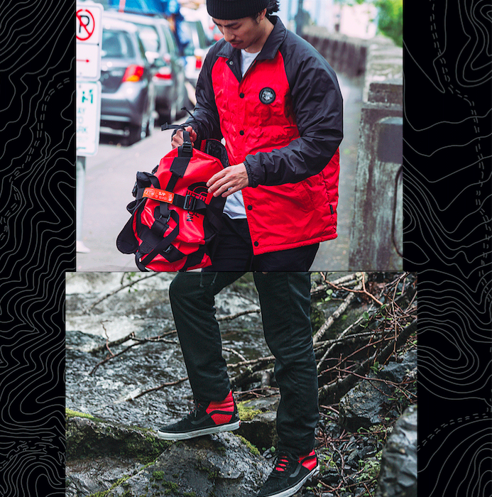 Vans x The North Face outfit