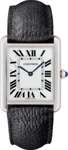 Cartier Tank Solo klocka watch steel and leather