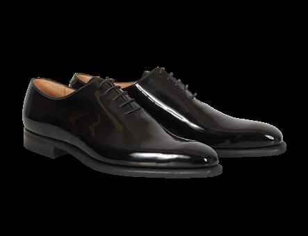 Crockett & Jones alex black patent leather shoes lackskor nyårsfirande