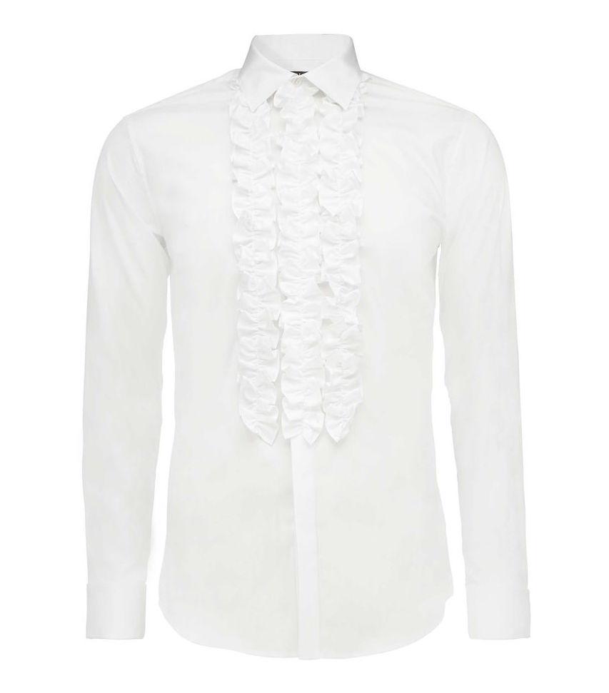 Hakan Shirt Tiger of Sweden skjorta med krås smoking nyårsfirande