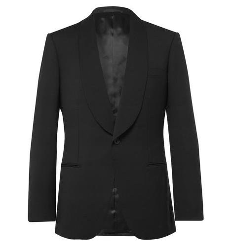 Kingsman smokingjacka Eggsy's Black Wool And Mohair-Blend Tuxedo Jacket nyårsfirande