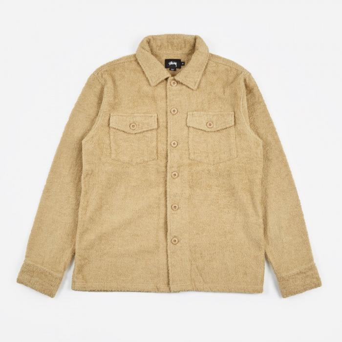 Long Terry BDU LS Shirt tan från Stussy