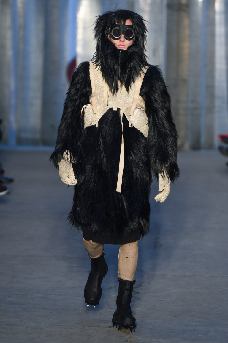 Boris Bidjan Saberi Fur Coat Faux Fur Fuskpäls päls herr man 2017:2018