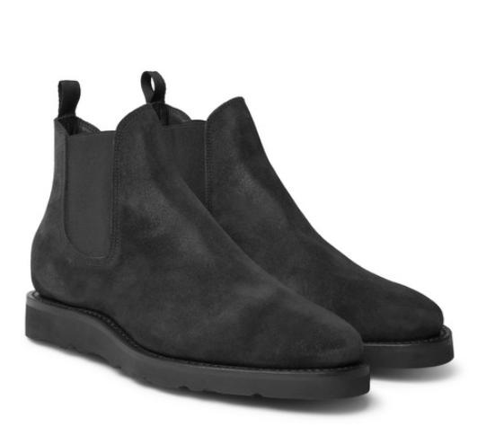 Chelsea boots från Viberg i mocka