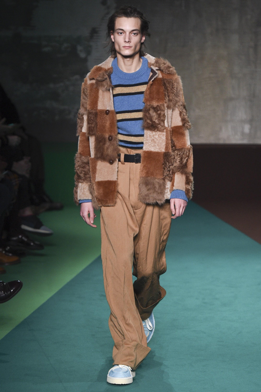 Fur Marni Fall 2017 Menswear Päls