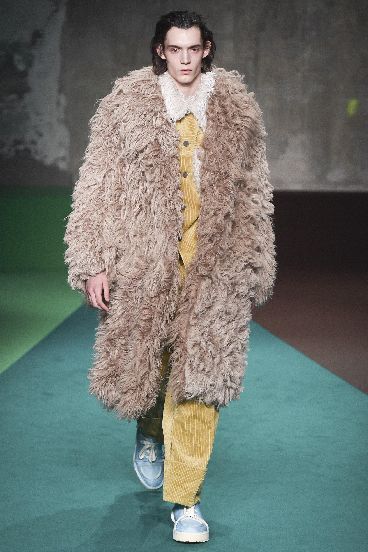 Marni Fall 2017 Menswear Fur Päls