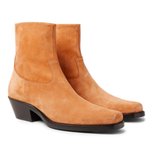Cuban Heels - Calvin Klein 205W39NYC Western Tod Suede Boots