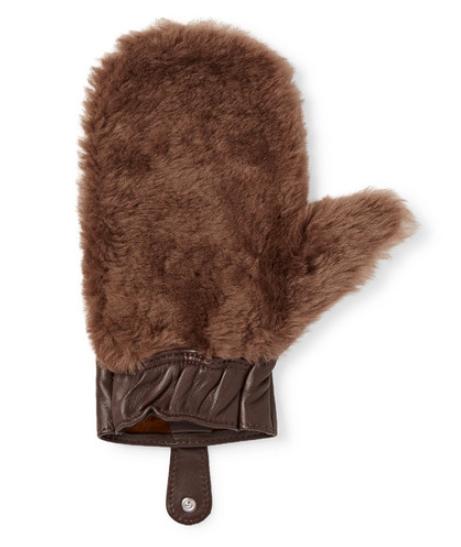Klädvård - Lorenzi Milano Shearling And Leather Shoeshine Mitt
