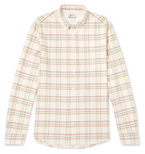 Rutiga skjortor - Acne Studios Isherwood Button-Down Collar Checked Cotton Shirt