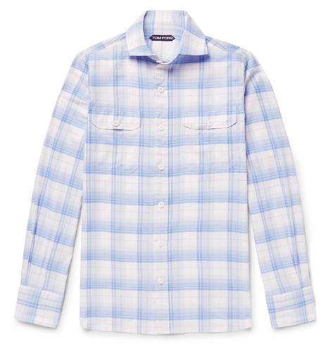 Rutiga skjortor - Tom Ford Checked Cotton Shirt