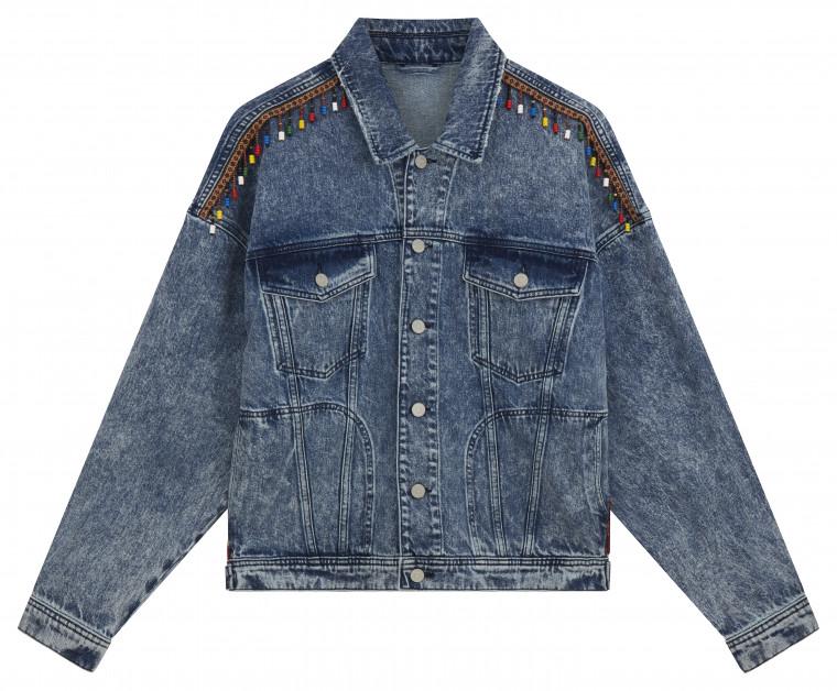 ASOS AW18 jeansjacka pärlor