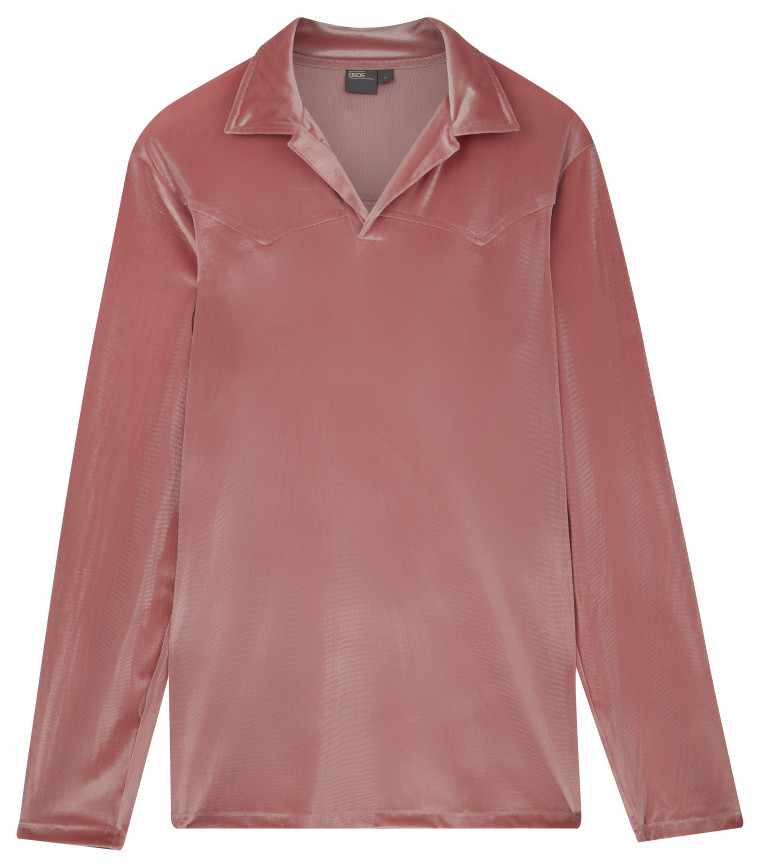 ASOS AW18 tröja rosa plysch
