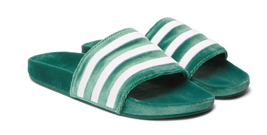 Adidas Originals Adilette sltriped velvet slides