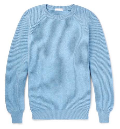 Ribbad cashmer-tröja från Anderson & Sheppard