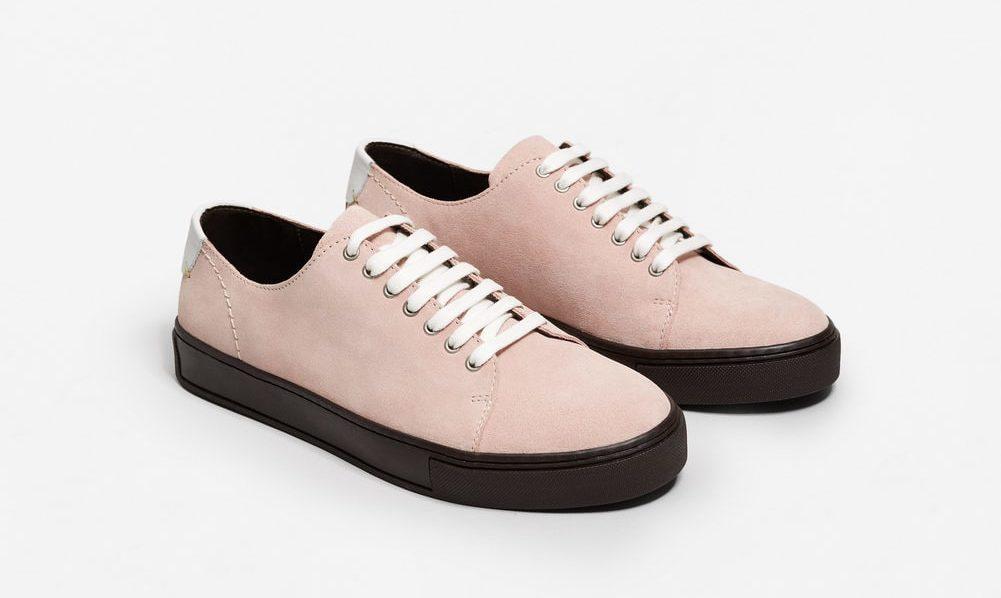 Rosa mockasneakers från Mango
