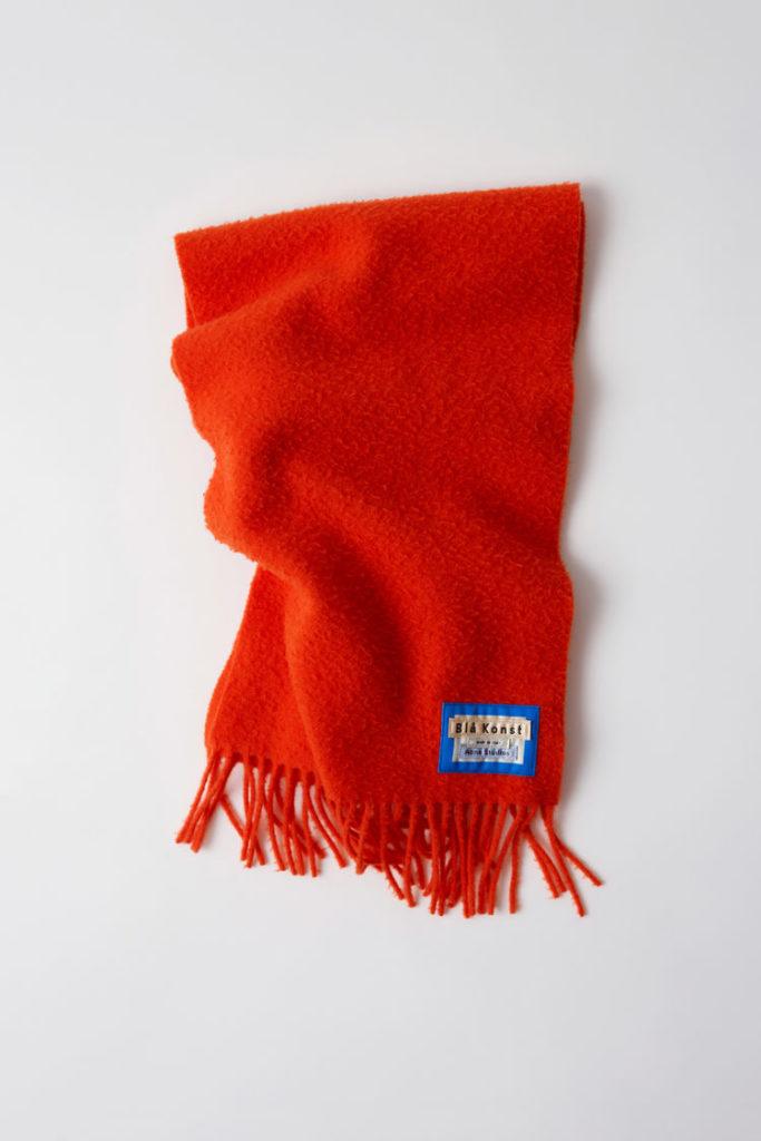 Acne Studios Blå Konst Holmes halsduk orange
