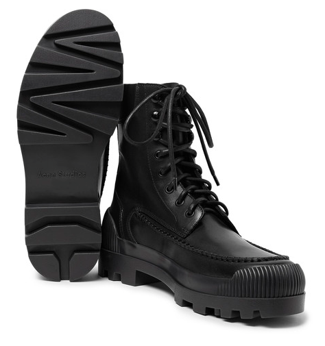 Acne Studios Rubber Trimmed leather boots