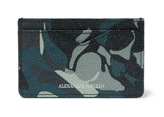Alexander McQueen card holder korthållare kamouflage