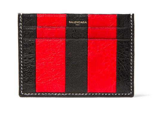 Balenciaga striped card holder korthållare