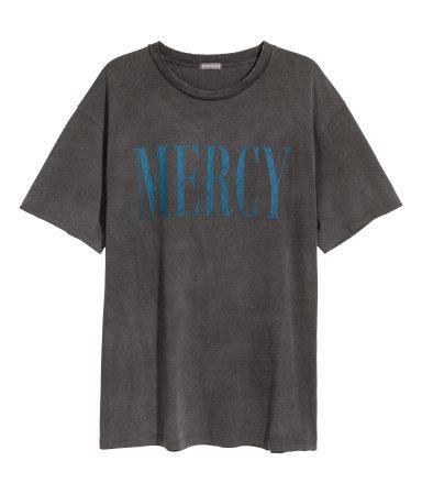 T-shirt med tryck H&M Man