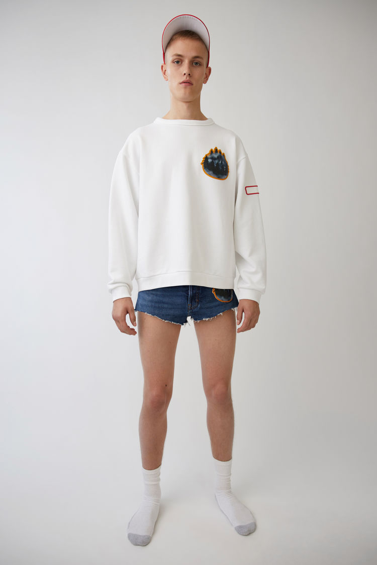 Acne Studios Diner Collection fire optic white sweatshirt