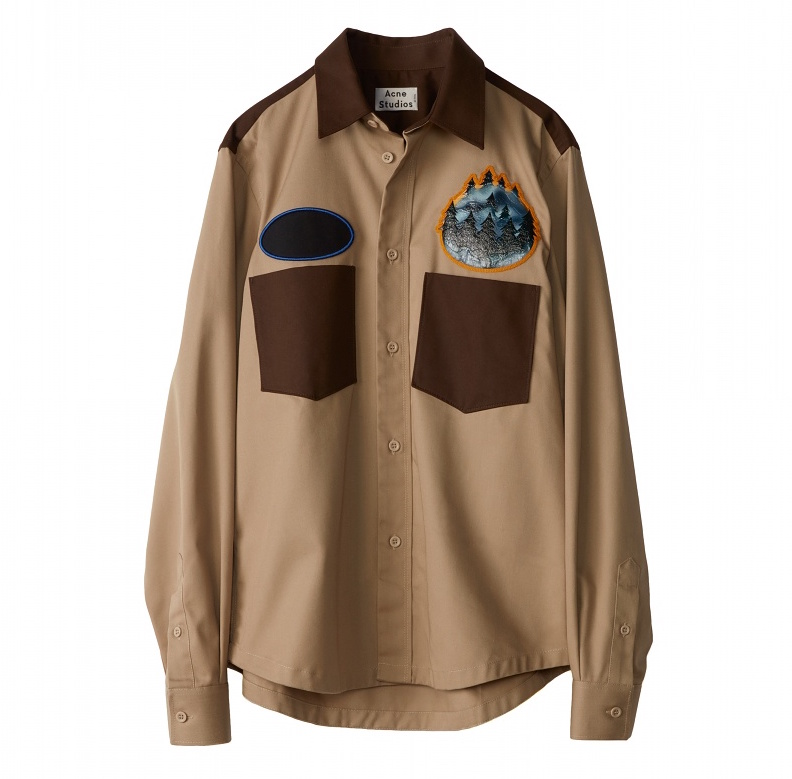 Acne Studios Diner Collection seattle-beige-brown shirt