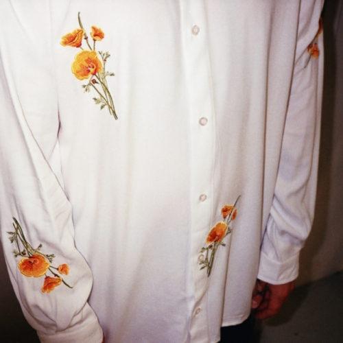 Soulland x Bruta vit skjorta med blommor