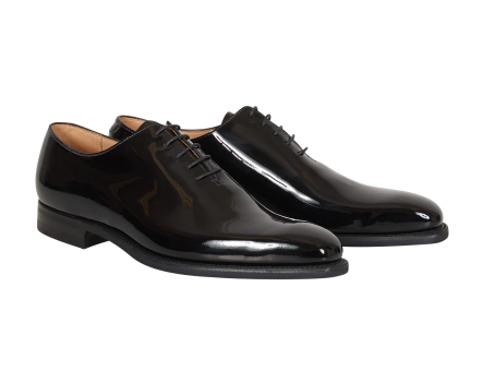 Crockett & Jones alex black patent leather shoes lackskor nyårsfirande