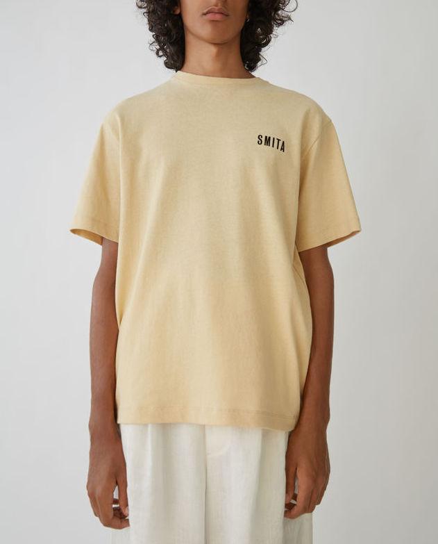 Jacey Print linen beige t-shirt Acne Studios Smita t-shirt