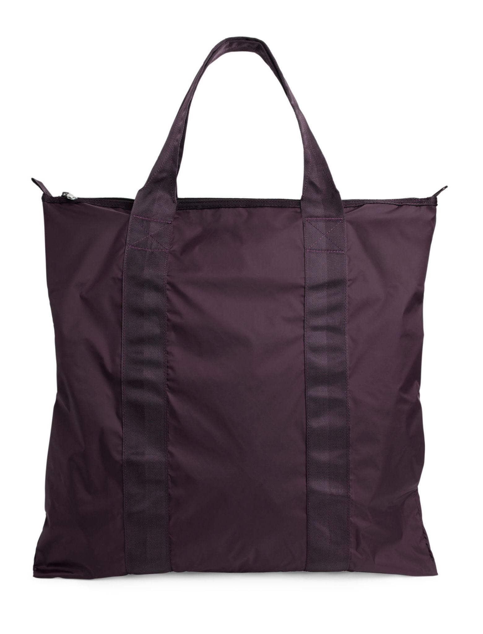 ARKET Packable Tote Bag Burgundy