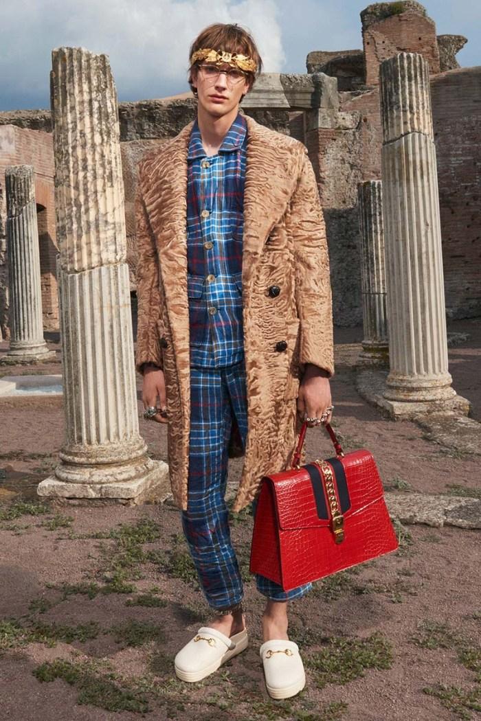 Gucci Cruise 2018 Men's Fur Coat Päls