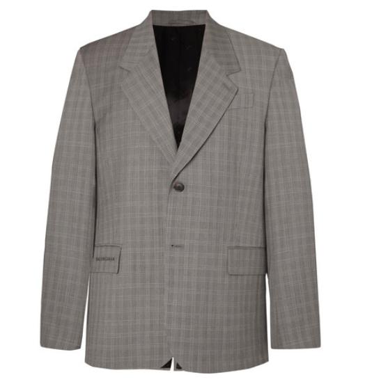 MR PORTER x Balenciaga grey suit jacket