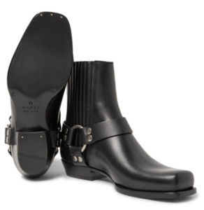 Cuban Heels - Gucci Leather Harness Boots